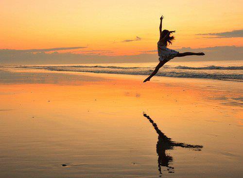 dance girl beach